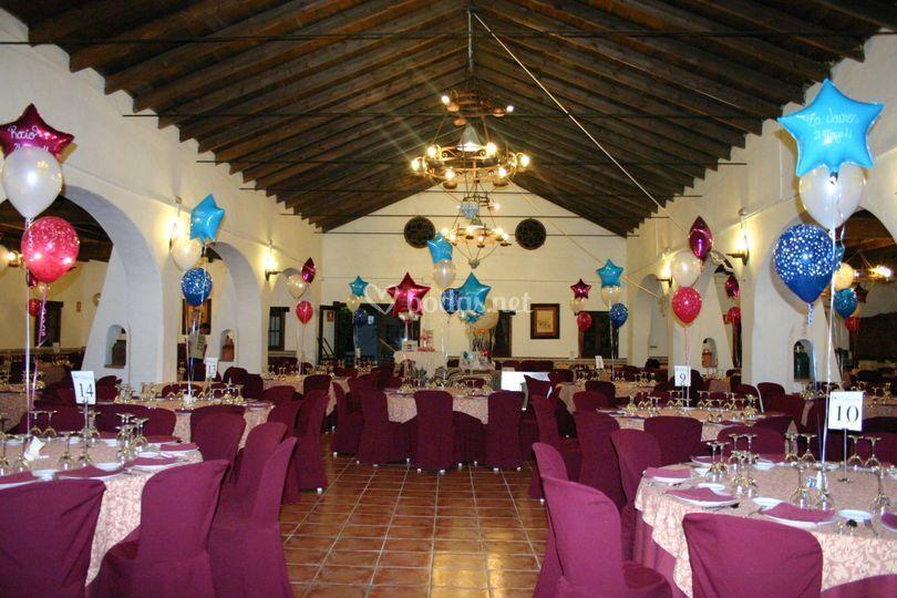 Centros de mesa en boda