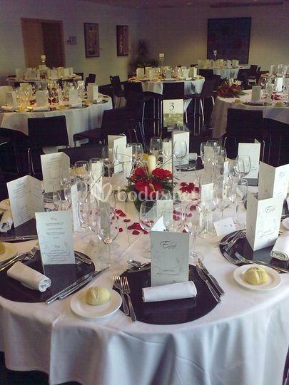 Detalle de mesa de boda