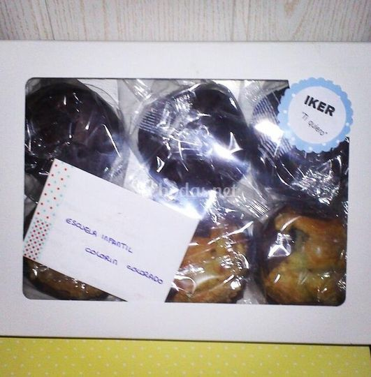 Caja de muffins