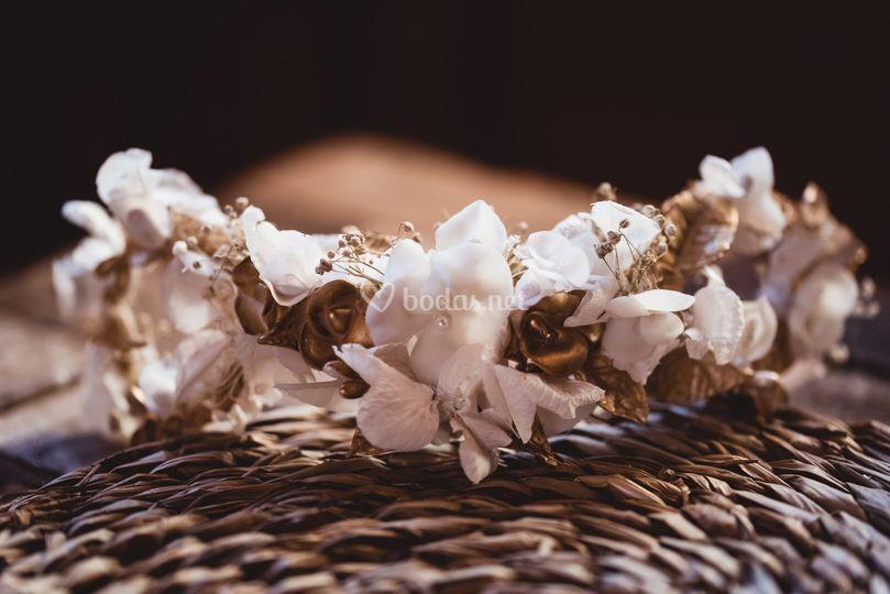 Semicorona de porcelana