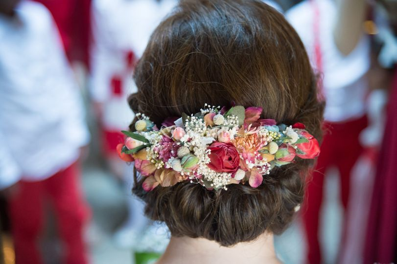 Tiara de flores naturales
