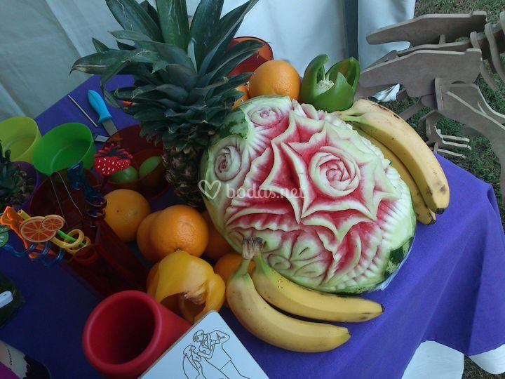 Talla de fruta