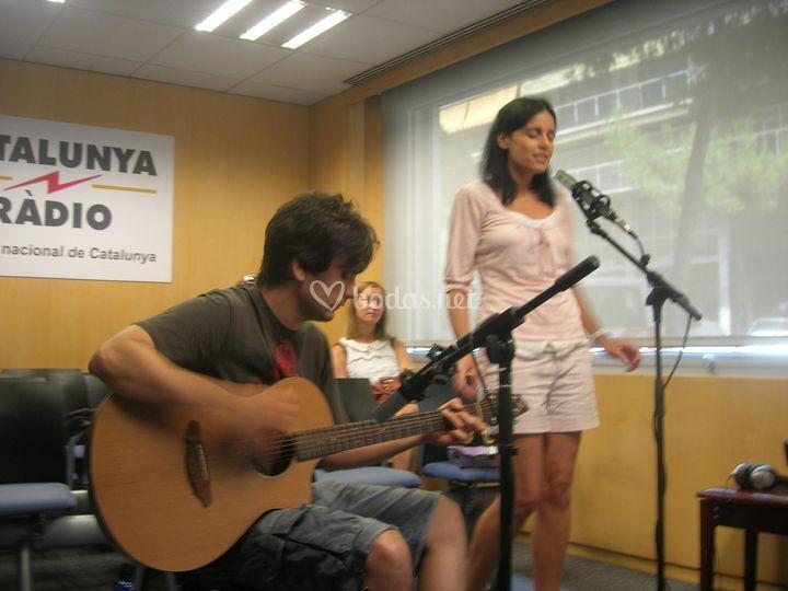 Actuación en Catalunya Radio