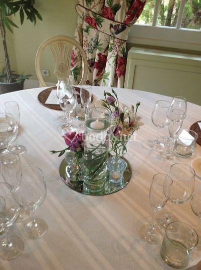 Decoración mesa convite