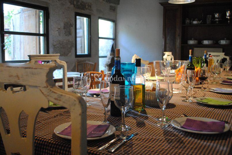 Mesa para celebración