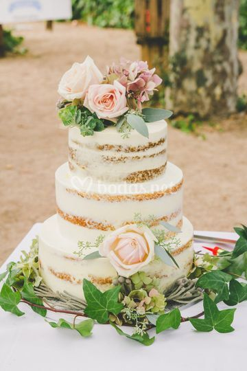Cake Boda Velado de Sweet 180 Grados