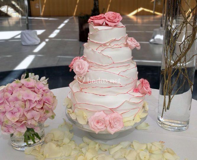 Cake flores azúcar