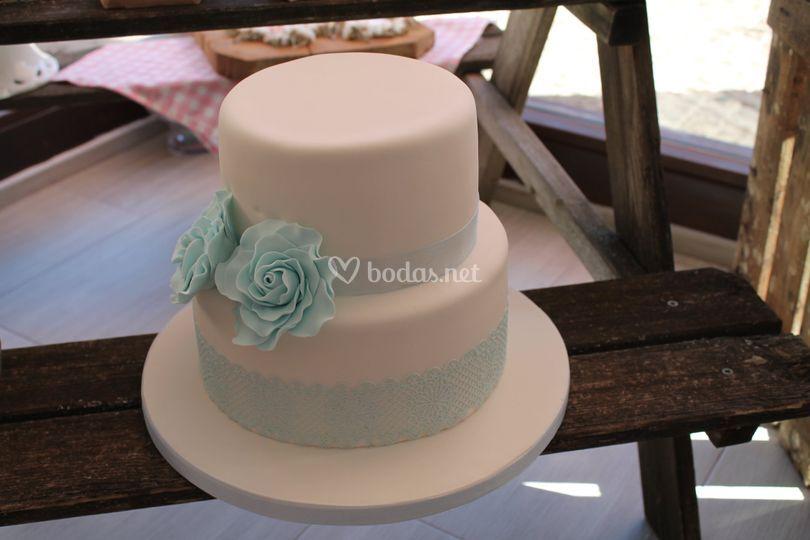 Tarta de boda de dos pisos