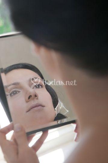 Novia en espejo