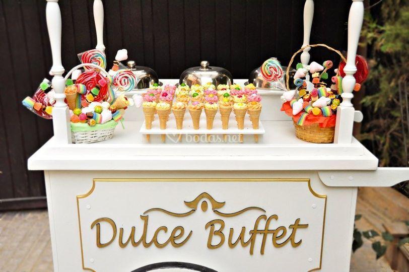 Buffet dulce para boda