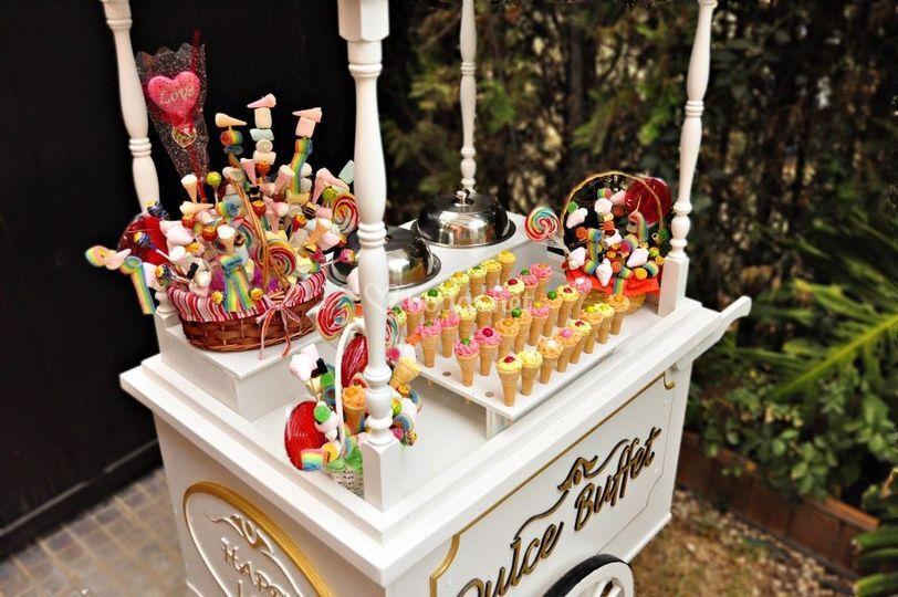 Variedad de productos dulces