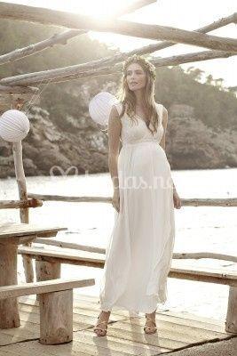 b66b62ce85d Vestido de gasa novia premamá de Paramamá | Foto 2
