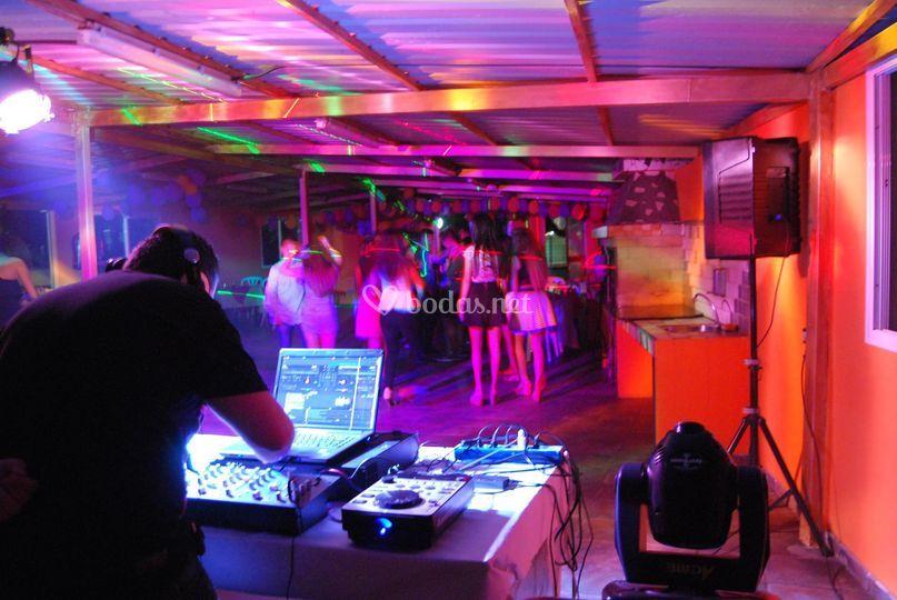 Cabina de dj iluminación