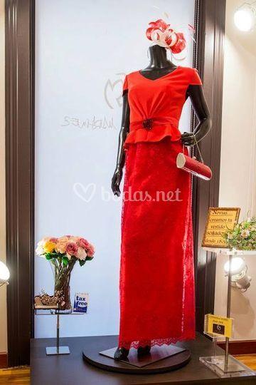 Vestido en rojo