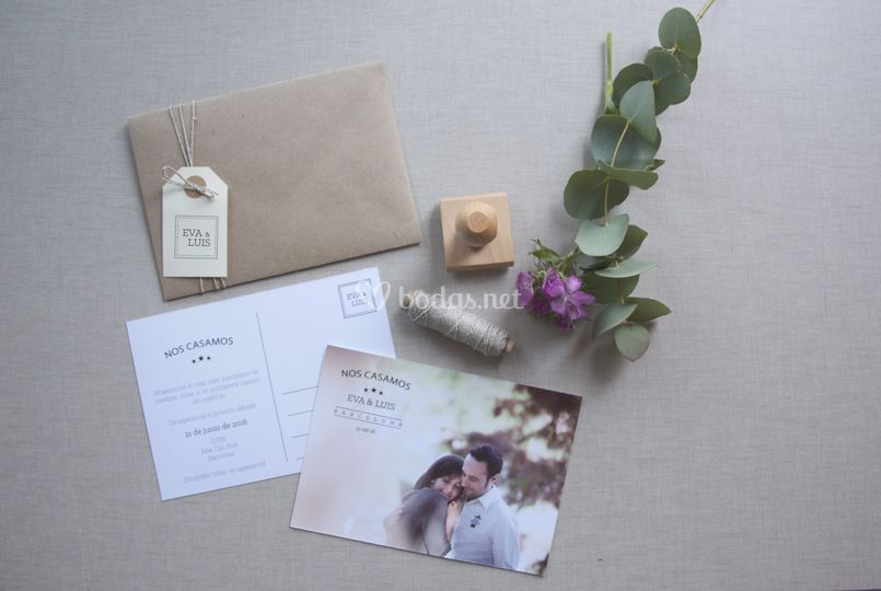 Invitación postcard