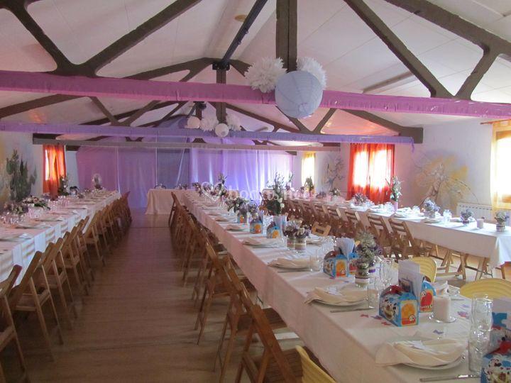Ejemplo de decoración de mesas