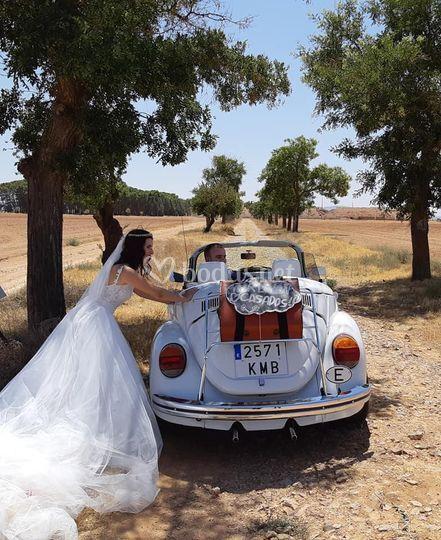 Coche con la novia