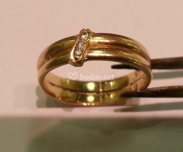 Unión de dos anillos