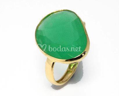 Sortija en verde terbium