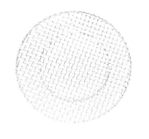 Bajoplato de cristal trenzado