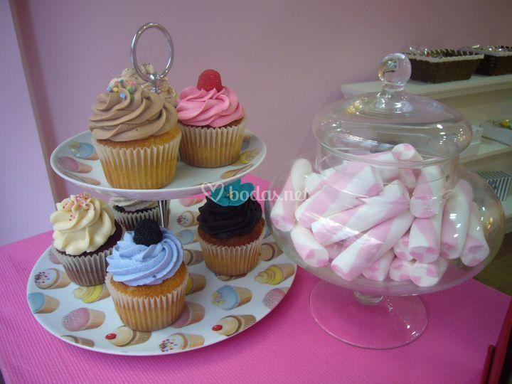 Cupcakes para mesas dulces
