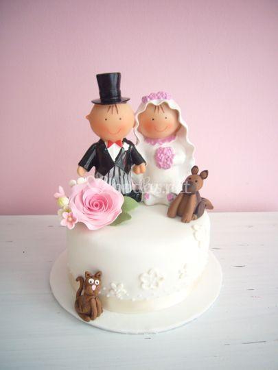 Tarta decorada boda