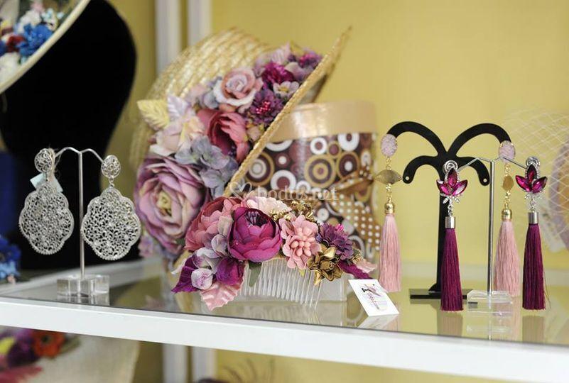 Canotier y flores