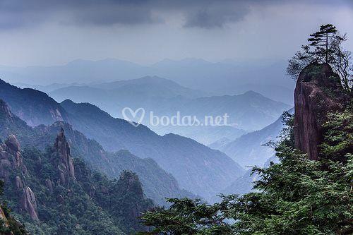 Montañas taoístas en China