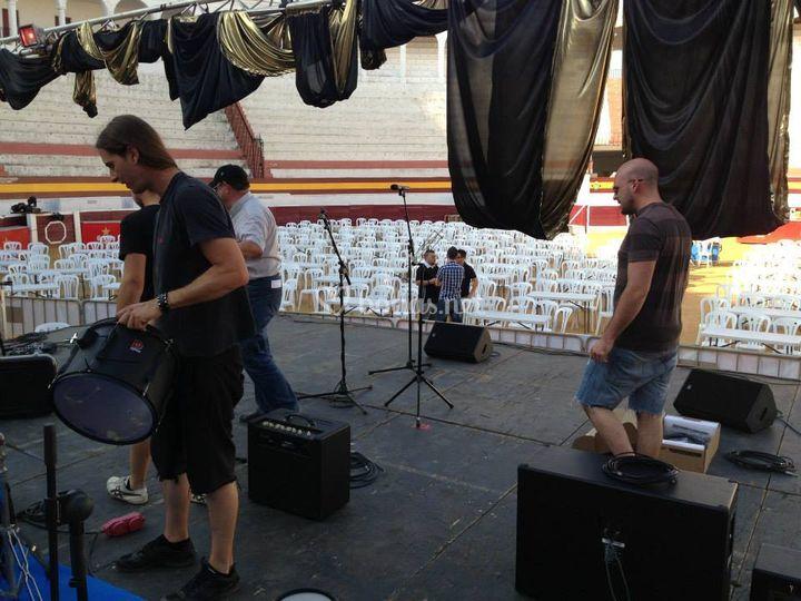 Preparación del escenario
