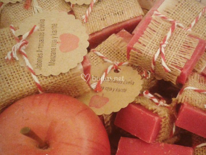 Jabón Manzana roja y karité