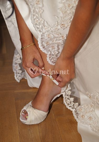 Zapato de la novia