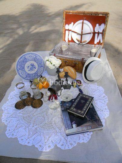 Pícnic boda en la playa