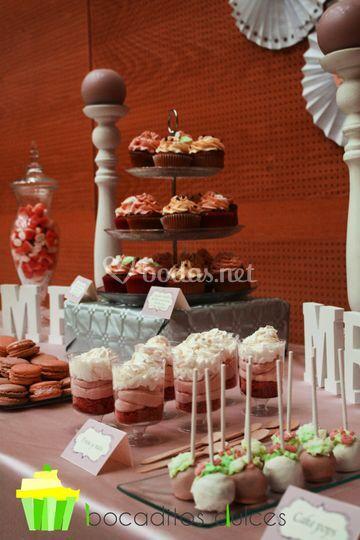 Detalle mesa dulce romantica