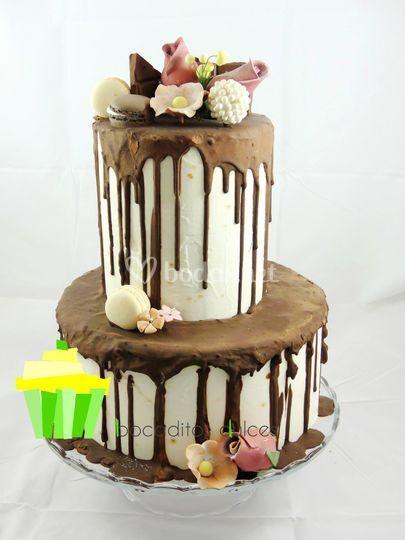 Drip cake de boda