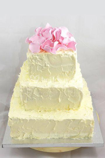 Tarta buttercream pétalos