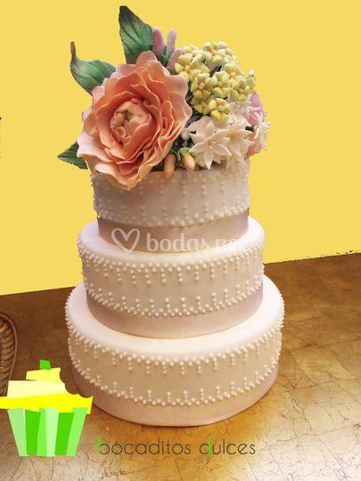 Tarta de boda vintage