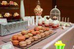 Macarons mesa tonos pastel