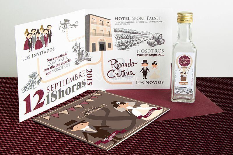 Invitación vinícola