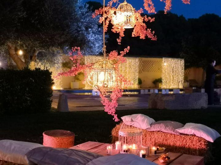 Centro de mesa romántico