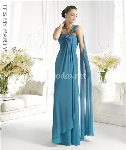 Vestido de fiesta conte griego