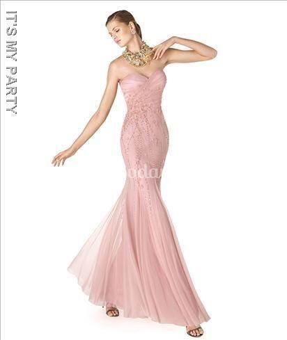 Vestido de fiesta corte sirena
