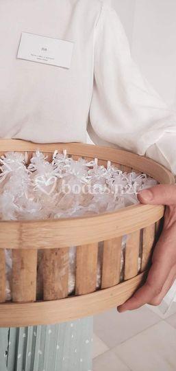 Repartimos el arroz a la salida