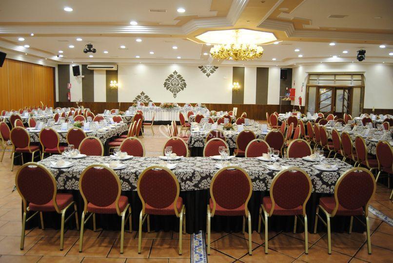 Salón para el banquete nupcial