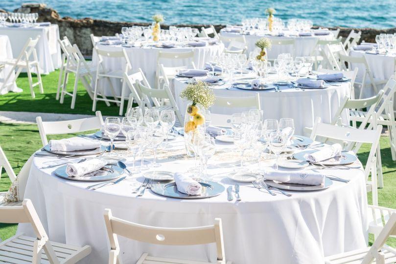 Celebración boda playa