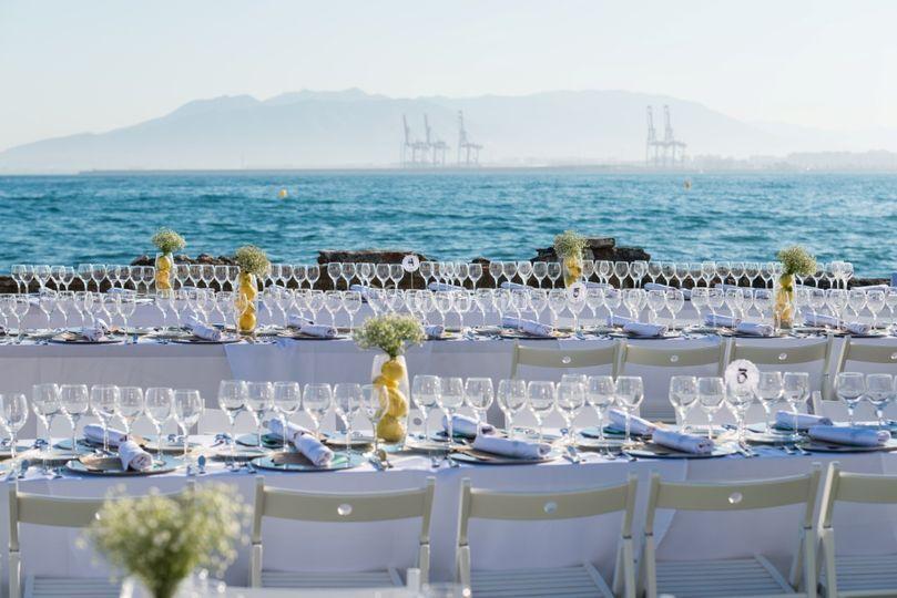 Celebración junto al mar