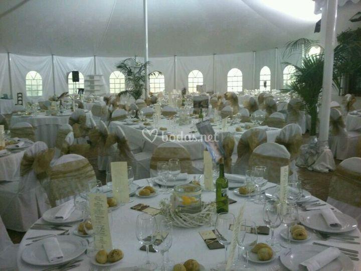 Interior carpa- boda