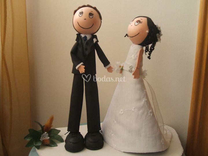Fofuchas novio y novia
