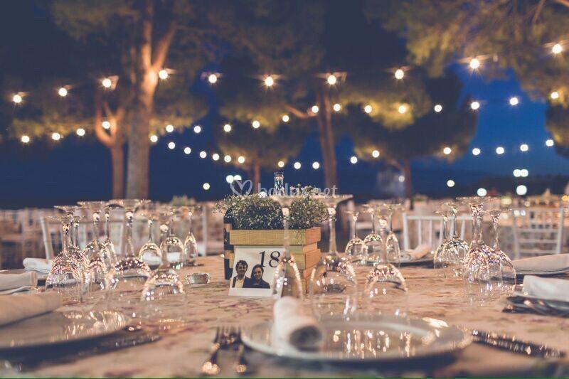 Centro y decoracion mesa