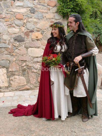 Trajes para boda medieval