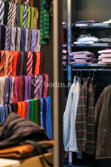 Amplia colección de corbatas